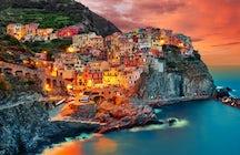 As cores Pastel de Cinque Terre