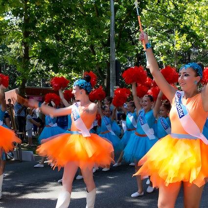 La procesión floral en una semana ajetreada en Debrecen, Hungría