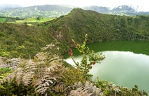 El Dorado legend, the lagoon and the town of Guatavita
