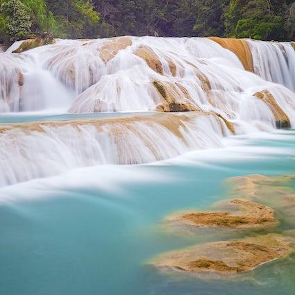 Les magnifiques chutes d'eau de Palenque