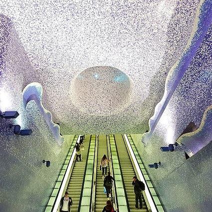 Travel through art- Toledo station of the Naples Metro