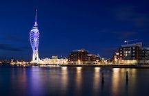 Portsmouth barrido por el viento