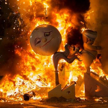 Het vurige einde van Fallas in Valencia