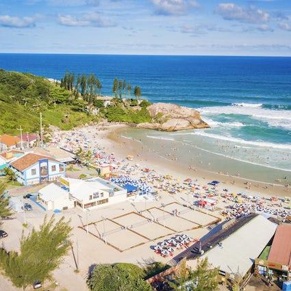 Joaquina strand, de surfoase van Santa Catarina, de surfoase van Santa Catarina