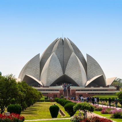 Die wunderbare Architektur des Lotus-Tempels in Delhi