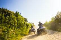 Drift along the Adriatic Sea with a quad bike