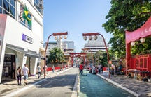 Experimente la cultura japonesa en el Bairro da Liberdade de São Paulo.