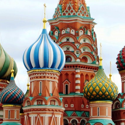 Inside the St. Basil's Cathedral at Moscow's Red Square