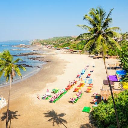 In en rond Calangute Beach in Goa