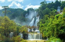Thi Lo Su, the largest waterfall in Thailand