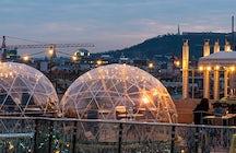 Disfrute en un Iglú sobre Budapest