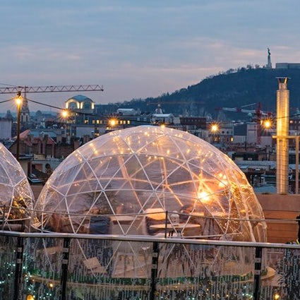 Enjoy yourself in an Igloo above Budapest