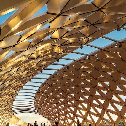 Pedestrian bridges of Nur-Sultan: Seruen, Karaotkel and Atyrau