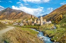 The village Ushguli & its beautiful church Lamaria