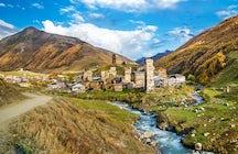 El pueblo de Ushguli y su hermosa iglesia Lamaria