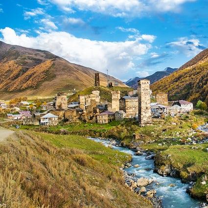 The village Ushguli & its beautiful church Lamaria