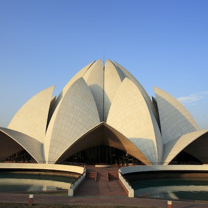 The miraculous architecture of the Lotus Temple in Delhi