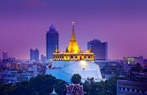 Sehen Sie Bangkok von der Höhe des Goldenen Berges aus.
