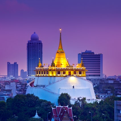 View Bangkok from the height of the Golden Mount