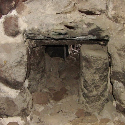 A cave with seven stone doors in Aragatsotn