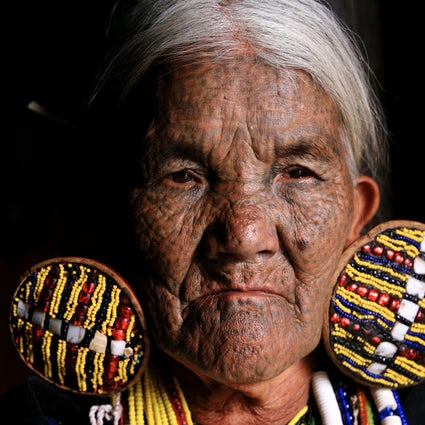 Mindat, Chin State: tattooed faces and animism