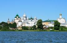 Admire bell ringing over Nero Lake in Rostov Veliky