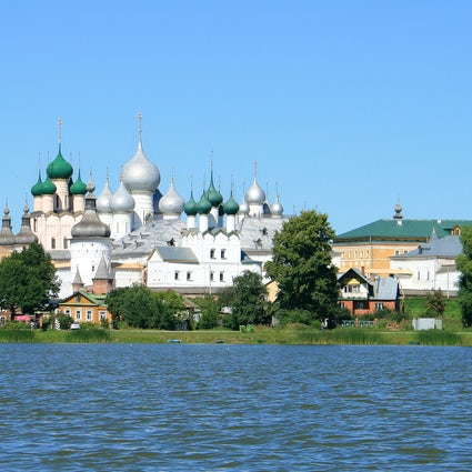 Admire bell ringing over Nero Lake in Rostov Veliky