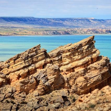 La armonía de la tierra caída en Zhygylgan, Kazajstán Occidental