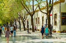 Une rue piétonne unique à Tirana