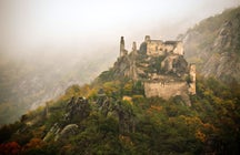 Zamek w Dürnstein - więzienie dla króla Ryszarda Lew Serca
