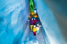 """Austria e il """"Natural Ice Palace""""  nel cuore del ghiacciaio dell'Hintertux"""