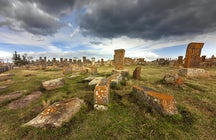 Historical and mysterious Noratus khachkar cemetery