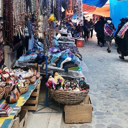Tarabuco - de inheemse Andes-stad van de wevers