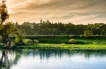 One summer day in Zvenigorod near Moscow