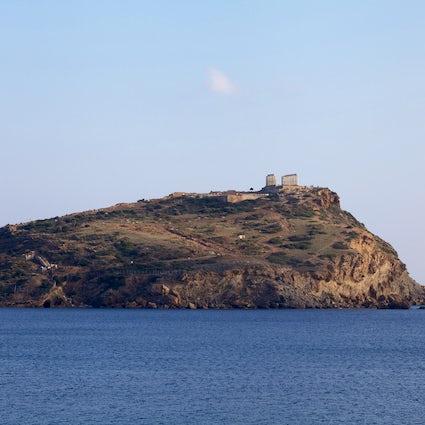 El Templo de Poseidón en Cape Sounion