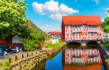 Canales e historia en Wismar, Alemania