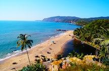 Wohnen la Vida Loca am Strand von Candolim, Goa