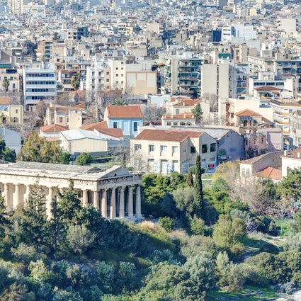 The Temple of Hephaestus in Athens