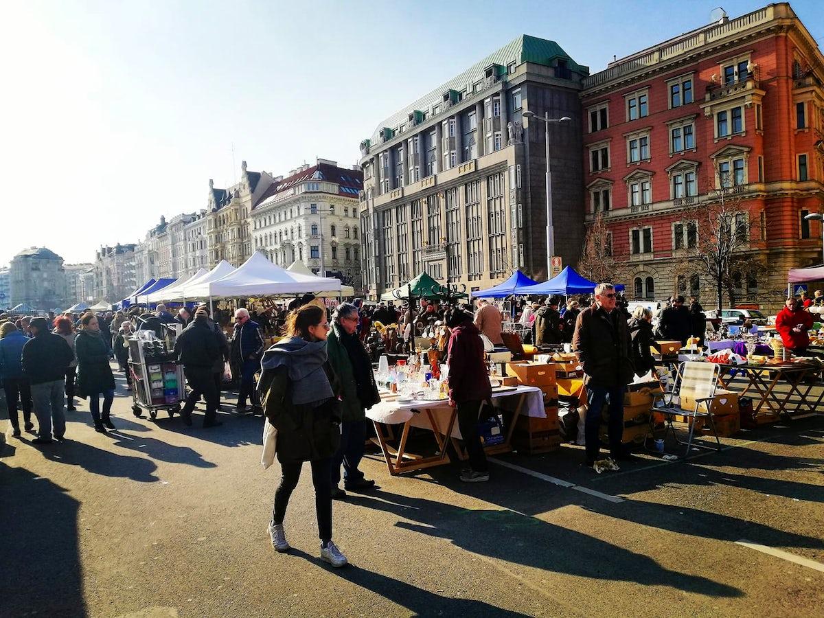 Flea market at Vienna's Naschmarkt