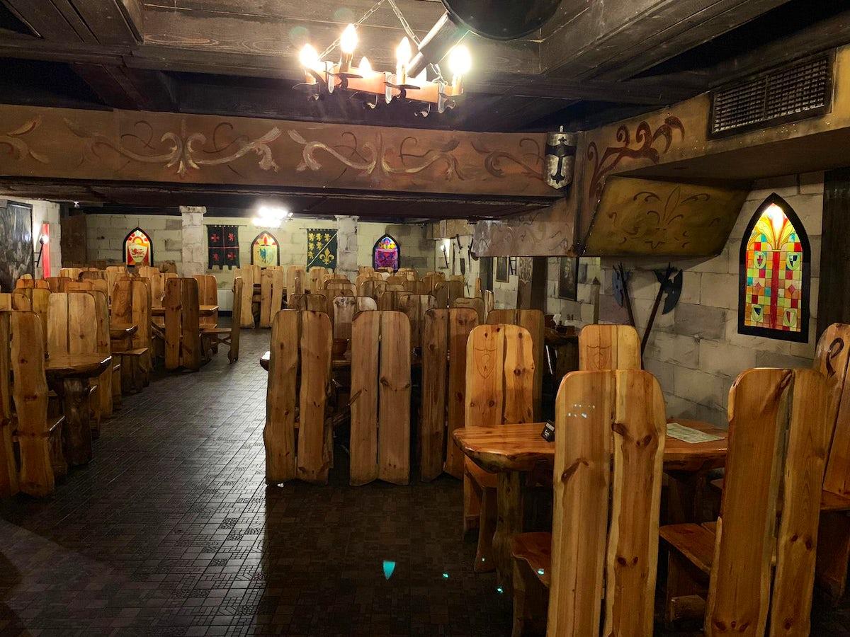 Medieval dining in Bucharest's Excalibur restaurant