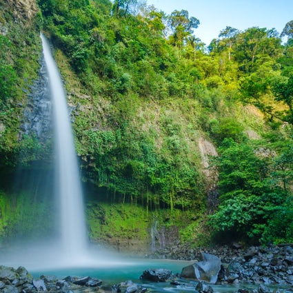 A Top Ecotourism Hotspot in Costa Rica:  La Fortuna Waterfall