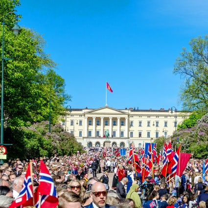 Oslo during Norwegian independence day