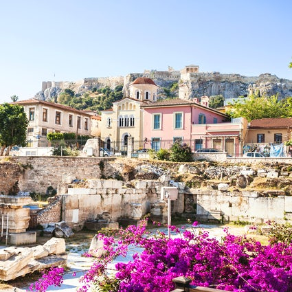 Plaka, an island in the centre of Athens