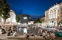 Museums Quartier, wo Kunst auf Dolce Vita trifft