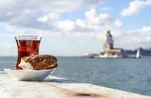 Duos de comida de rua da Turquia