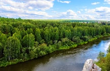 Chusovaya River: among the Ural rocks and forests