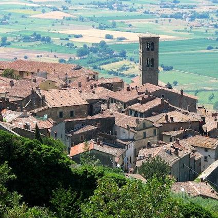 On the wine paths of Italy:  Cortona