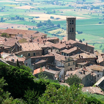 On the wine paths of Italy:  Cortona