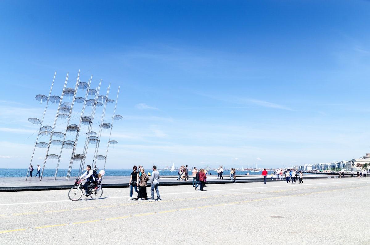 A seaside stroll in Thessaloniki