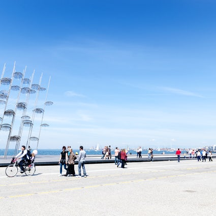 A seaside stroll in Thessaloniki